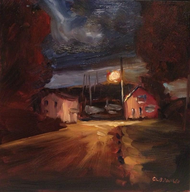 """""""Nocturne, Havre de Grace, Day 97"""" original fine art by Claudia L Brookes"""