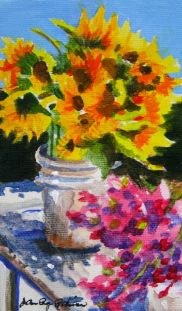 """""""Thoughts of August"""" original fine art by JoAnne Perez Robinson"""