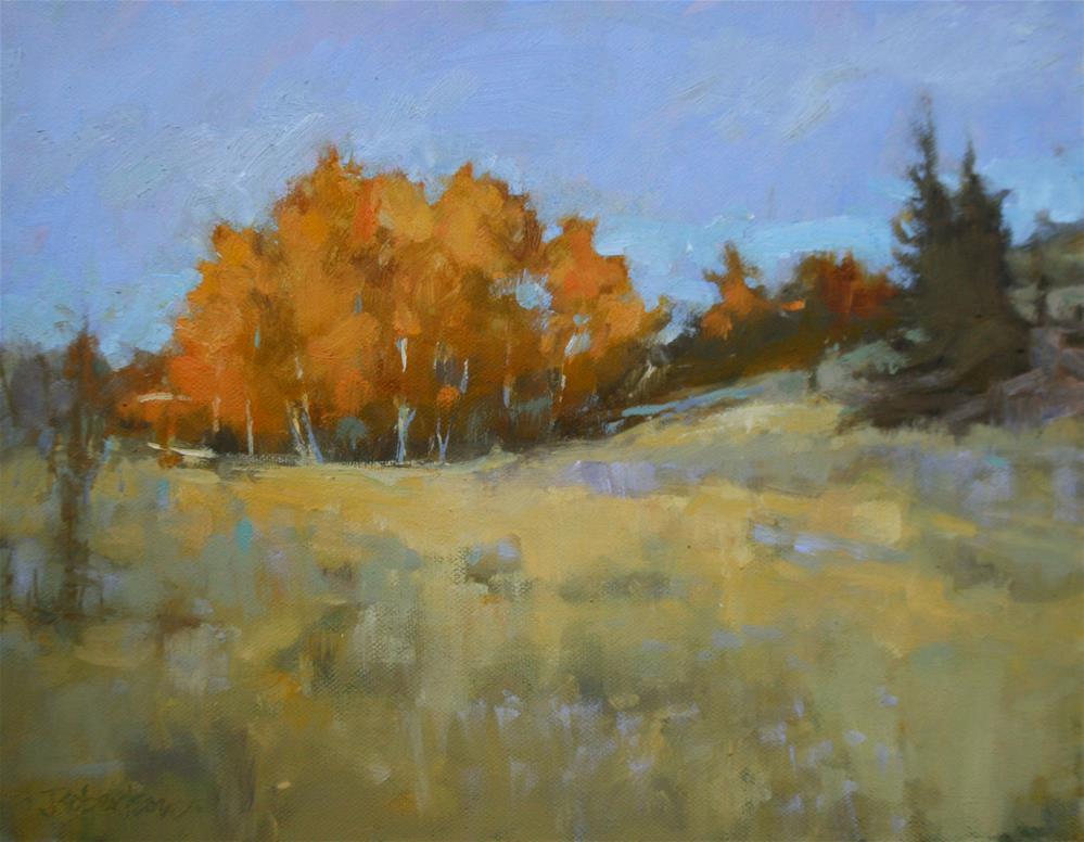 """""""Autumn Birch Stand II"""" original fine art by Jane Robertson"""