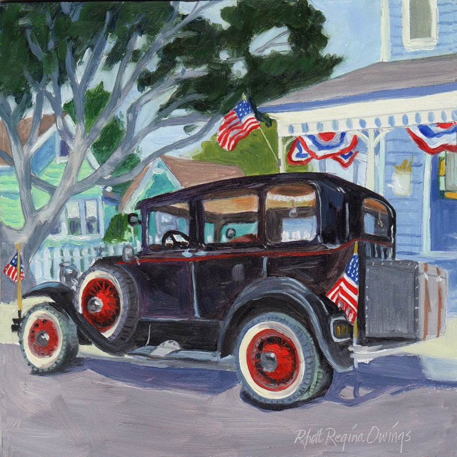 """Celebrate the 4th"" original fine art by Rhett Regina Owings"