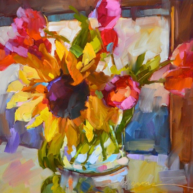 """""""Magical Morning Sunshine"""" original fine art by Dreama Tolle Perry"""