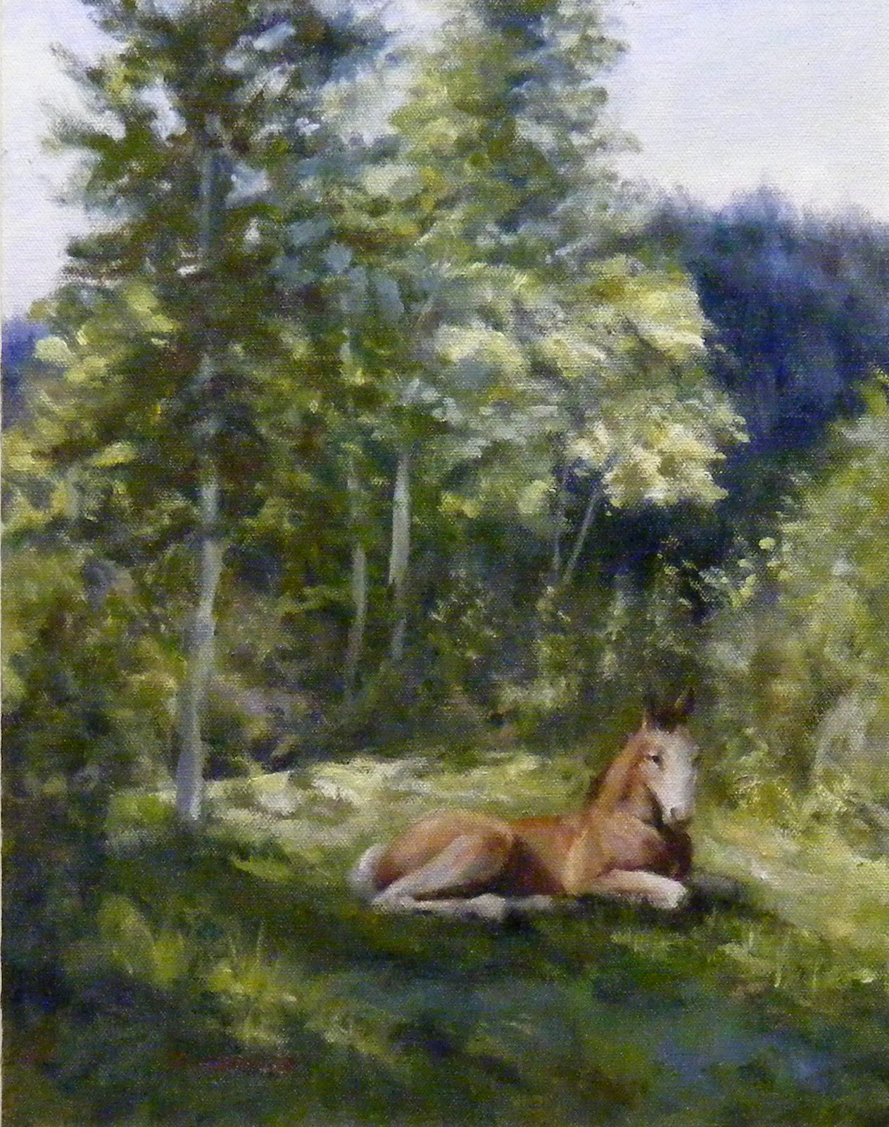 """Colt in the Aspens"" original fine art by Diana Delander"
