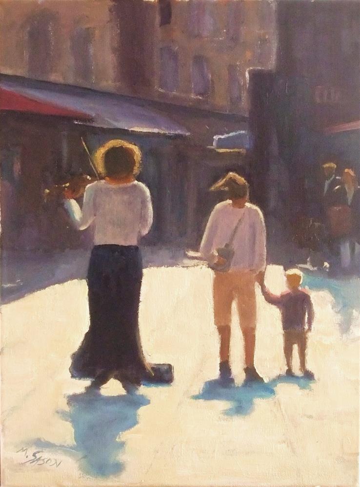 """Downtown Concerto A minor"" original fine art by Michael Sason"