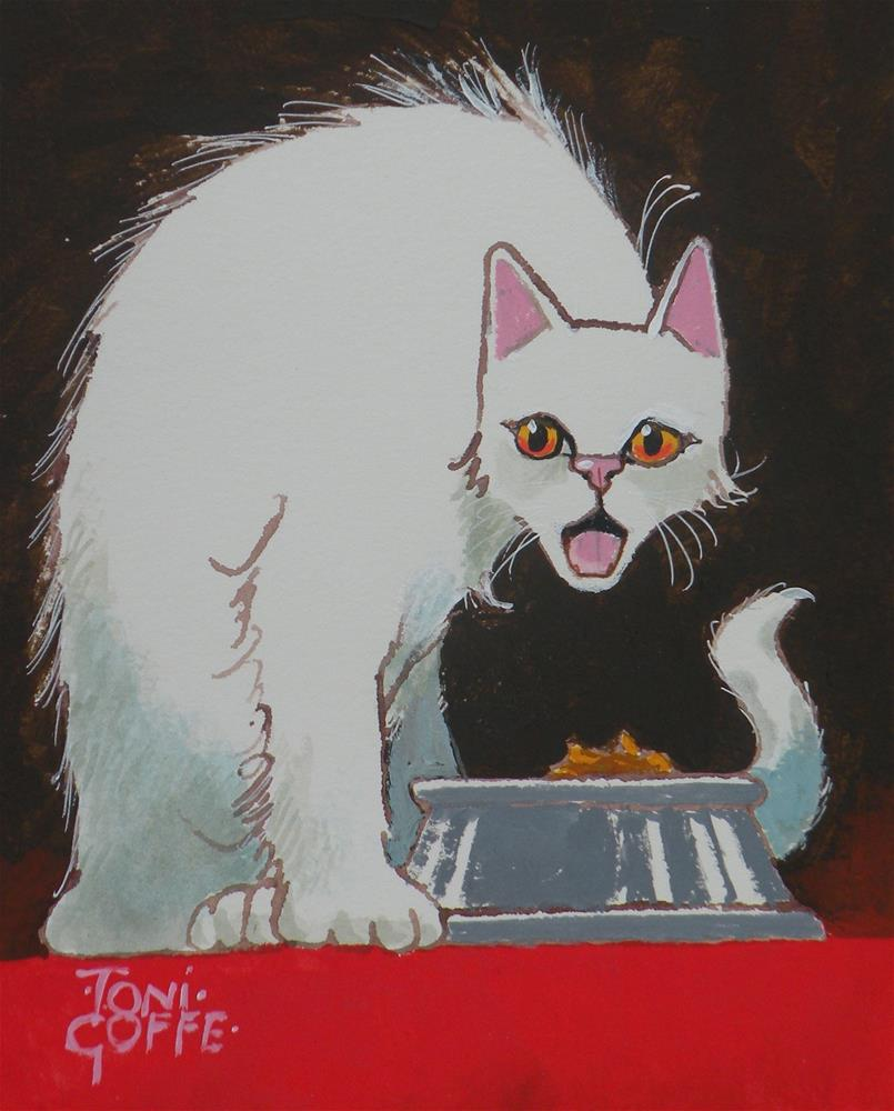 """""""You want me to eat that?."""" original fine art by Toni Goffe"""