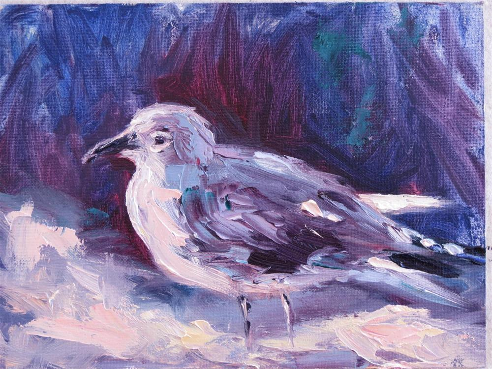 """Pawleys Island Plein Air ...Sea Gull Oil  & Pastel Study"" original fine art by Karen Margulis"