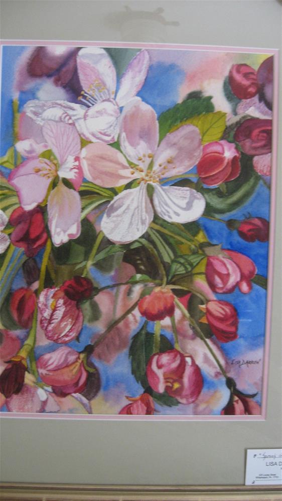 """Apple Blossom"" original fine art by Lisa Darrow"