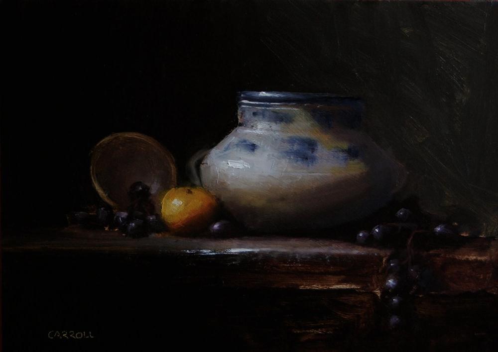 """Pot with Grapes"" original fine art by Neil Carroll"