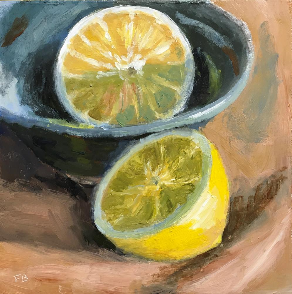 """173 Lemon Halves"" original fine art by Fred Bell"