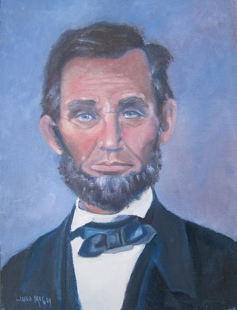 """Abraham Lincoln, Oil Painting by Linda McCoy"" original fine art by Linda McCoy"