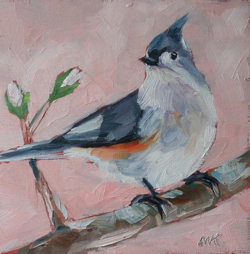 """""""Little Titmouse"""" original fine art by Mary Anne Cary"""