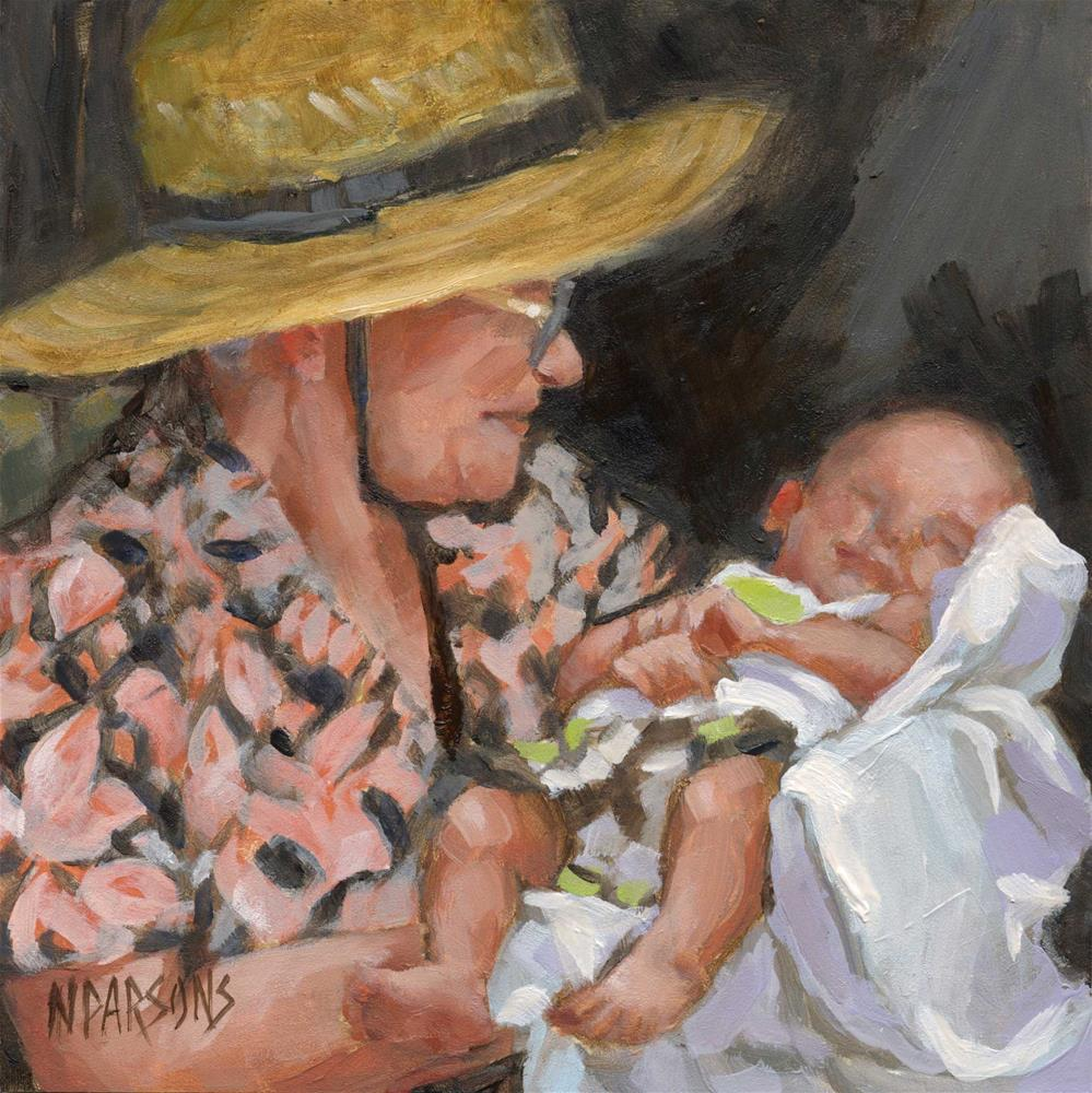 """""""SOLD- Big Momma and Jack"""" original fine art by Nancy Parsons"""