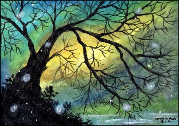 """""""Magic is All Around"""" original fine art by Patricia Ann Rizzo"""
