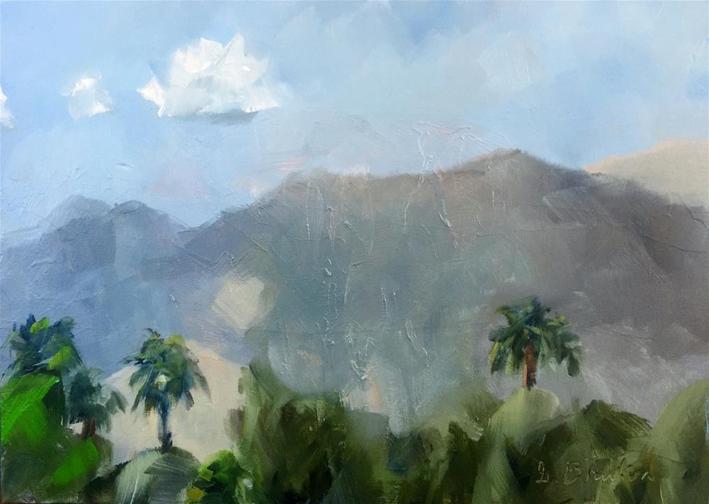 """Palm Springs Plein Air Study"" original fine art by Gary Bruton"