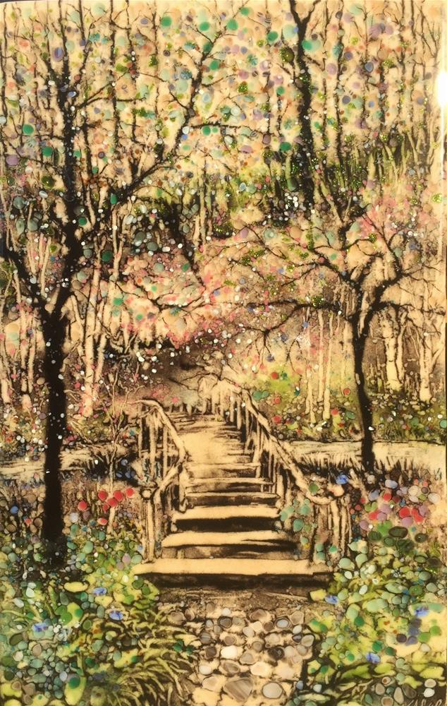 """White Forest Fantasy"" original fine art by Kelly Alge"