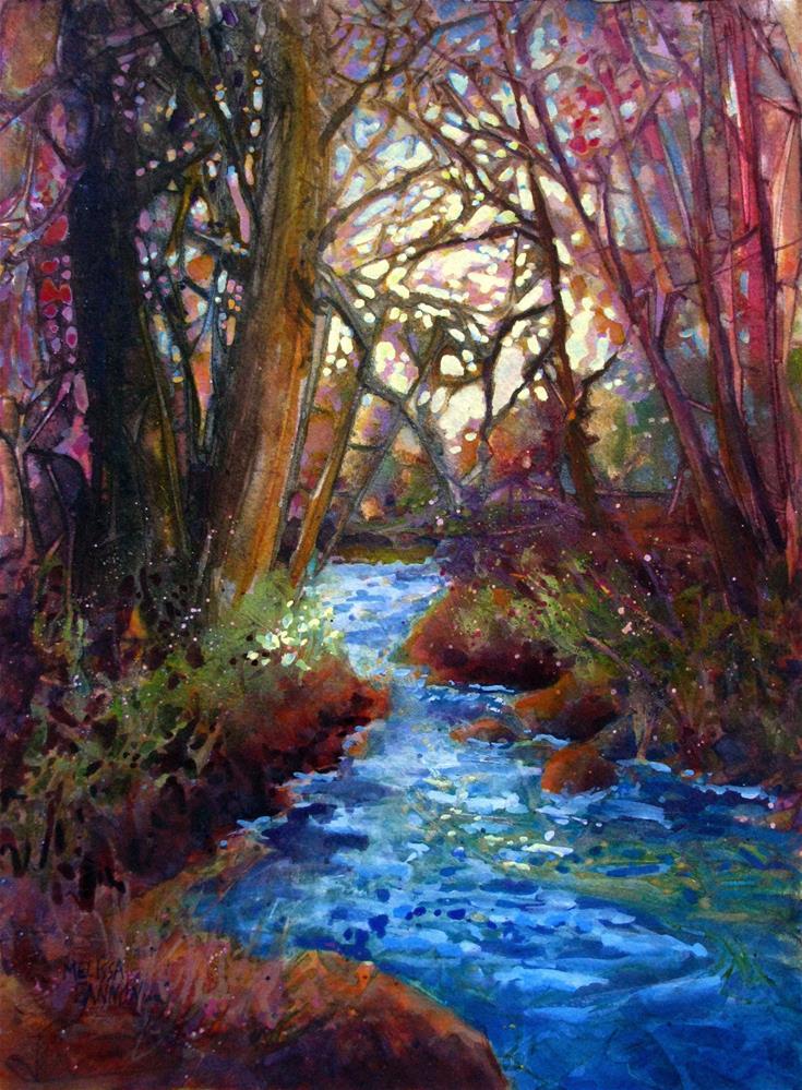 """""""Winter Afternoon"""" original fine art by Melissa Gannon"""