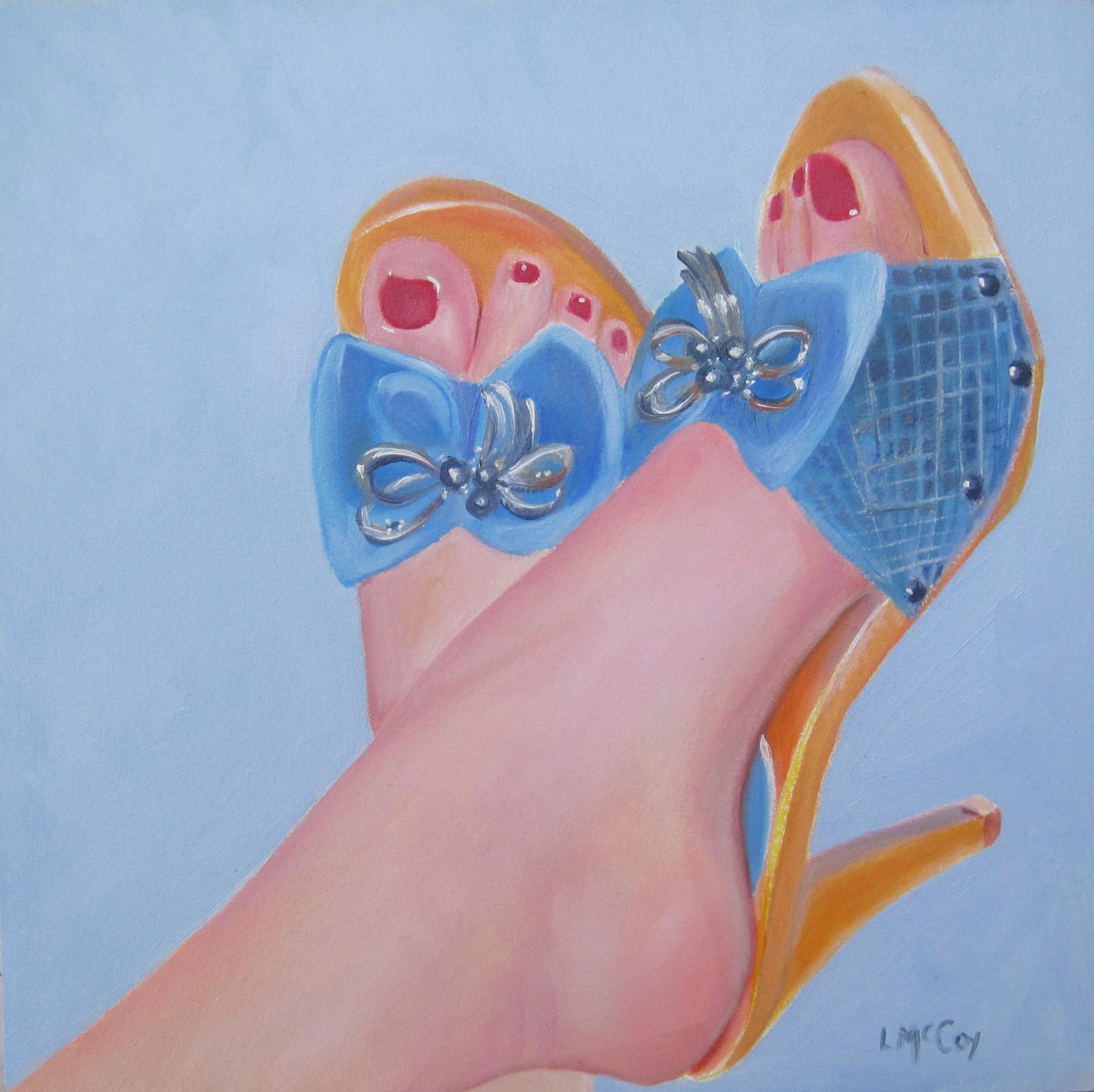 """Wicked Cute Italian Shoes"" original fine art by Linda McCoy"