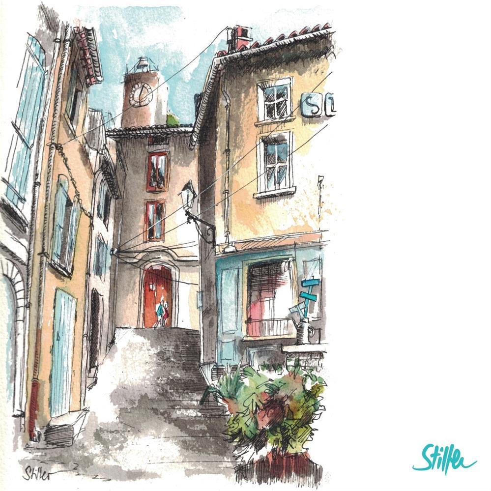 """3306 Beau Village"" original fine art by Dietmar Stiller"
