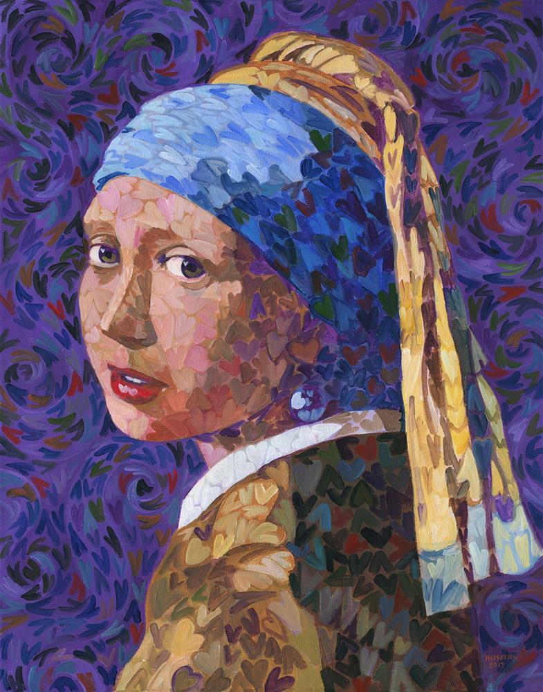 """Girl With A Pearl Earring (I ♥ Vermeer)"" original fine art by Randal Huiskens"