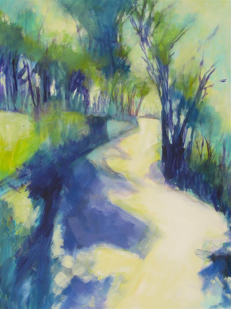 """""""Les Bassacs Promenade III"""" original fine art by Patricia MacDonald"""