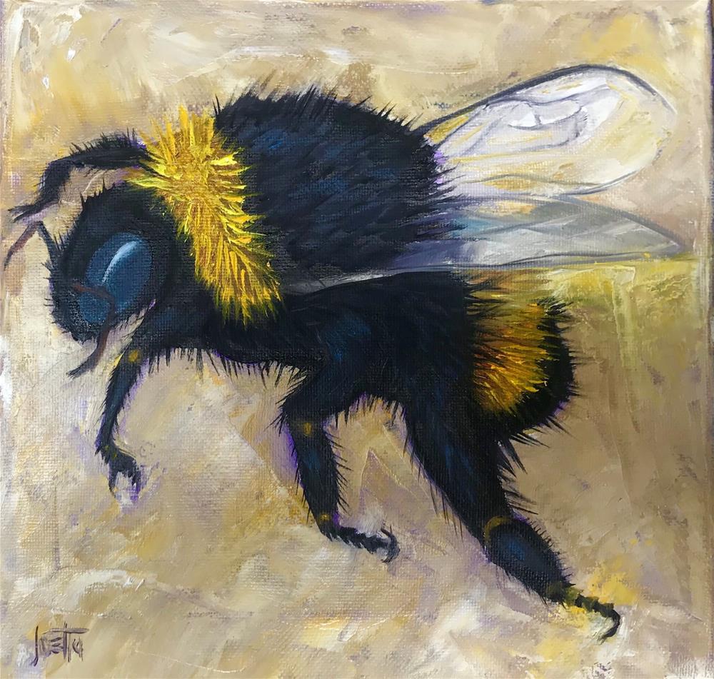"""Bumble Bee"" original fine art by Joetta Currie"