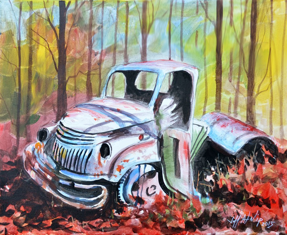 """Old Tow Truck"" original fine art by Jeff Atnip"