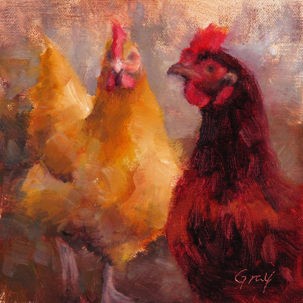 """Moe and Aunt-Bea"" original fine art by Naomi Gray"