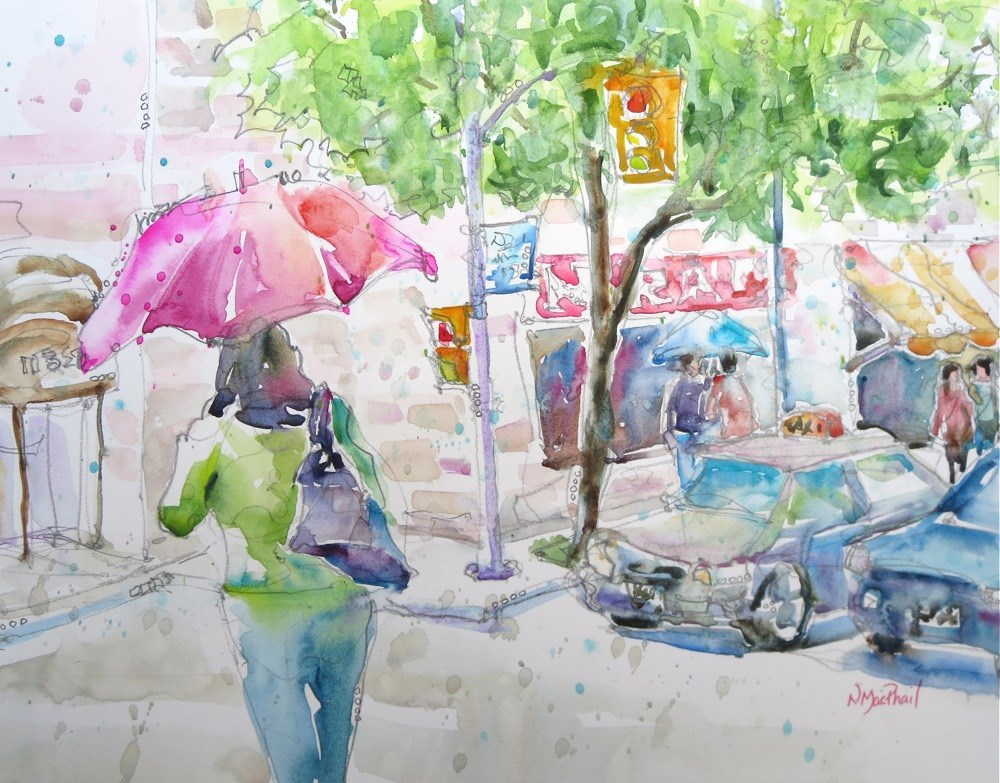 """last of the summer rain"" original fine art by Nora MacPhail"
