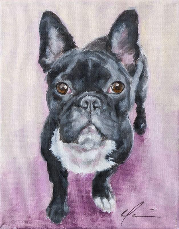 """""""PAINT MY DOG - Jersey"""" original fine art by Clair Hartmann"""