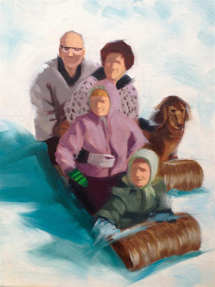 """Family Fun"" original fine art by Bev Thibault"