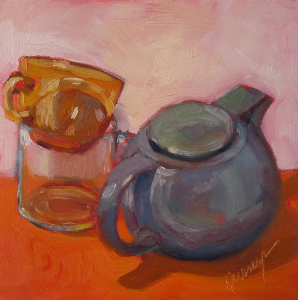 """Tilt Tea"" original fine art by Sharman Owings"