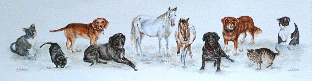 """The Workman's Critters"" original fine art by Vicki Wood"