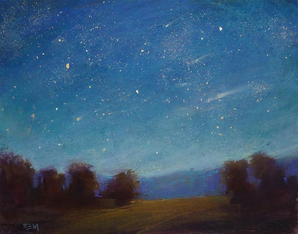 """Meteor Shower & a Tip For Controlling Pastel Dust"" original fine art by Karen Margulis"