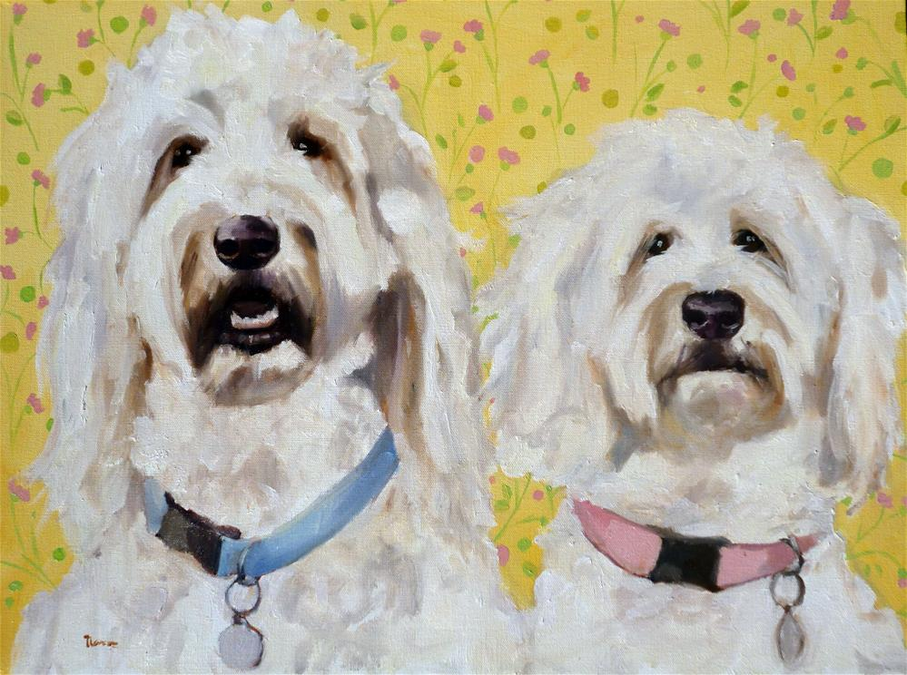 """Lucy and Oliver"" original fine art by Nava Judith"