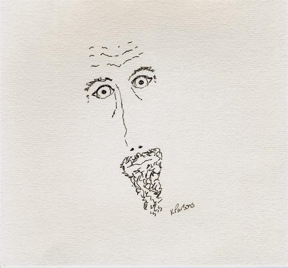 """No Shave November I - American Cancer Society Fundraiser"" original fine art by Kali Parsons"