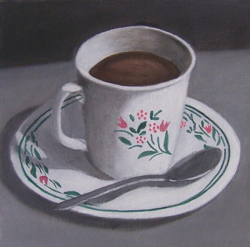 """Cup and saucer"" original fine art by John Marcum"