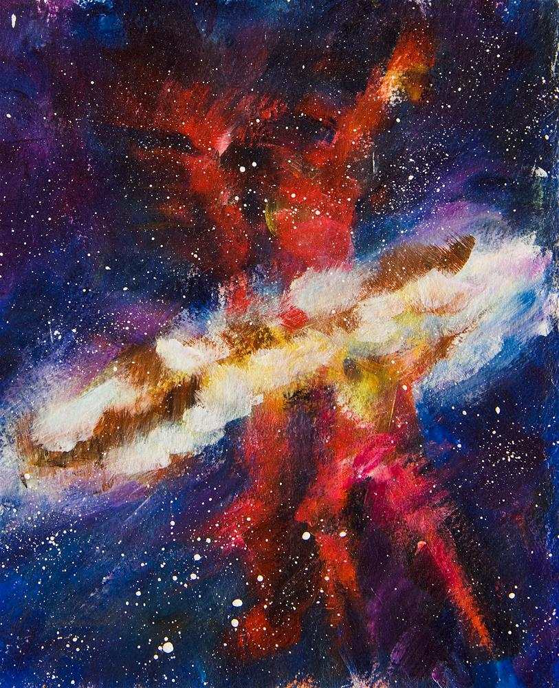 """Dancers of the Nebula"" original fine art by Yulia Kazansky"