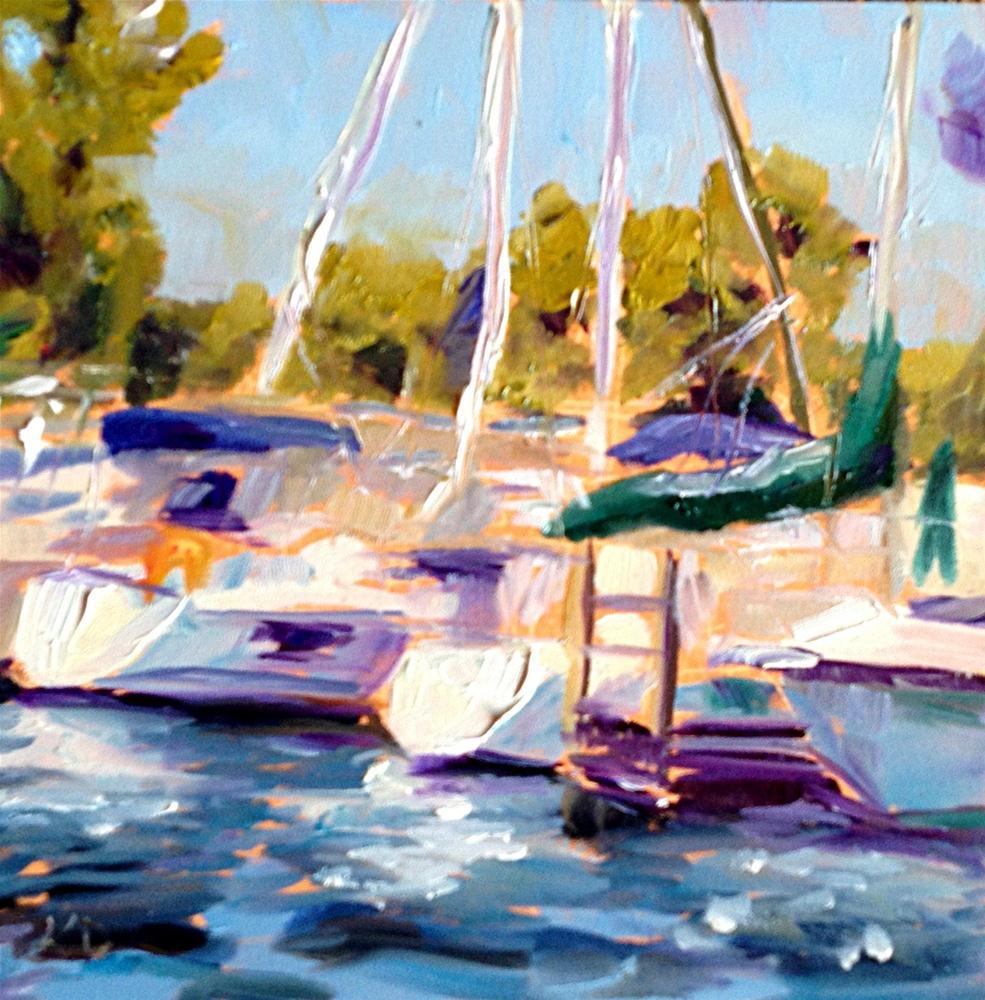 """Cedar Point Harbor"" original fine art by Kristen Dukat"