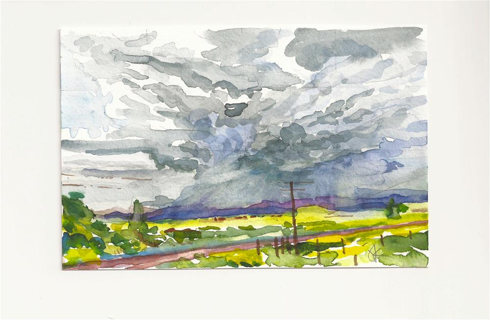 """Westcliffe, Colorado, Thunderstorm"" original fine art by Jean Krueger"