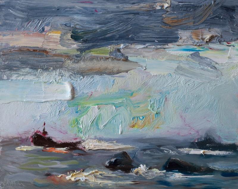 """Stormy Sky"" original fine art by Anna Fine Art"