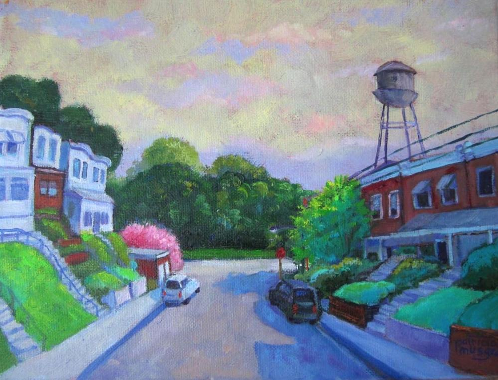 """Morning Light on Hamilton, Darby, Pennsylvania"" original fine art by Patricia Musgrave"
