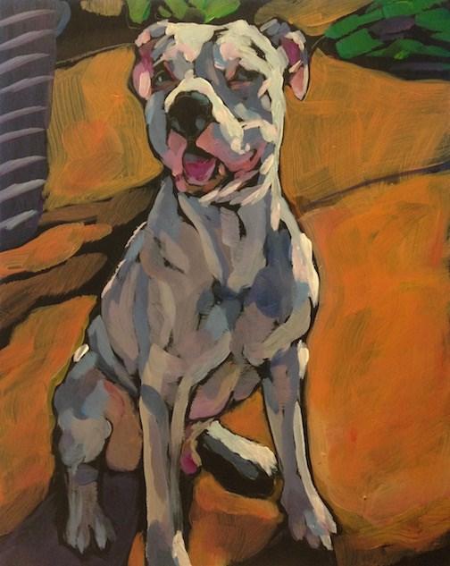 """""""Wedding Terrier"""" original fine art by Kat Corrigan"""