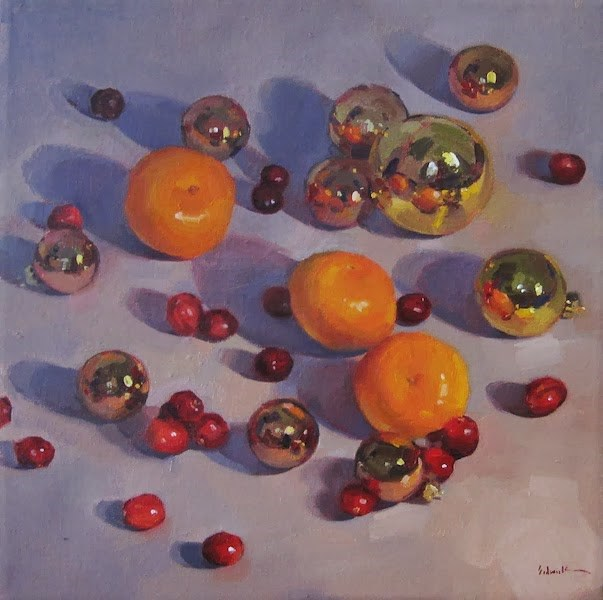 """Christmas Clementines"" original fine art by Sarah Sedwick"