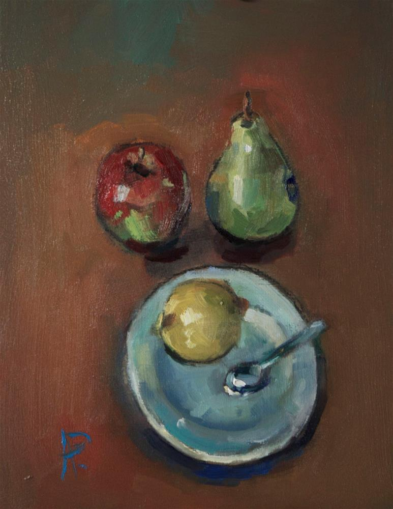 """""""Still Life with Fruit"""" original fine art by Andre Pallat"""