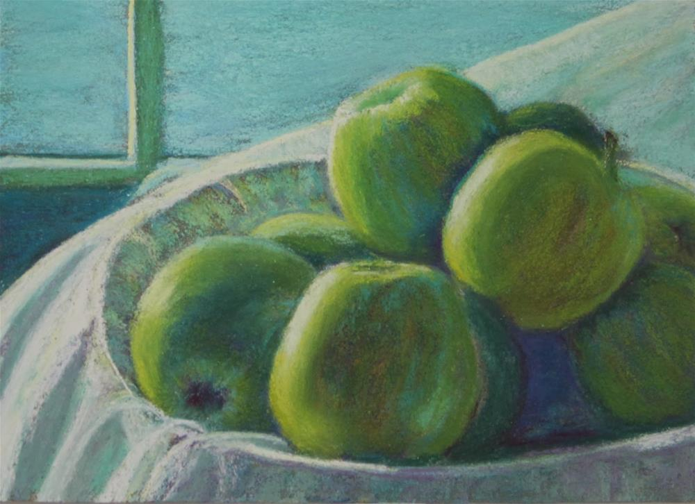 """New Year's Apples"" original fine art by Sharon Lewis"