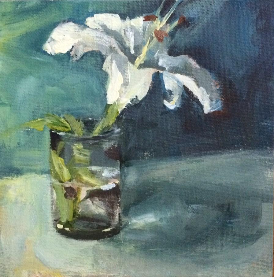 """Lily"" original fine art by Shannon Bauer"