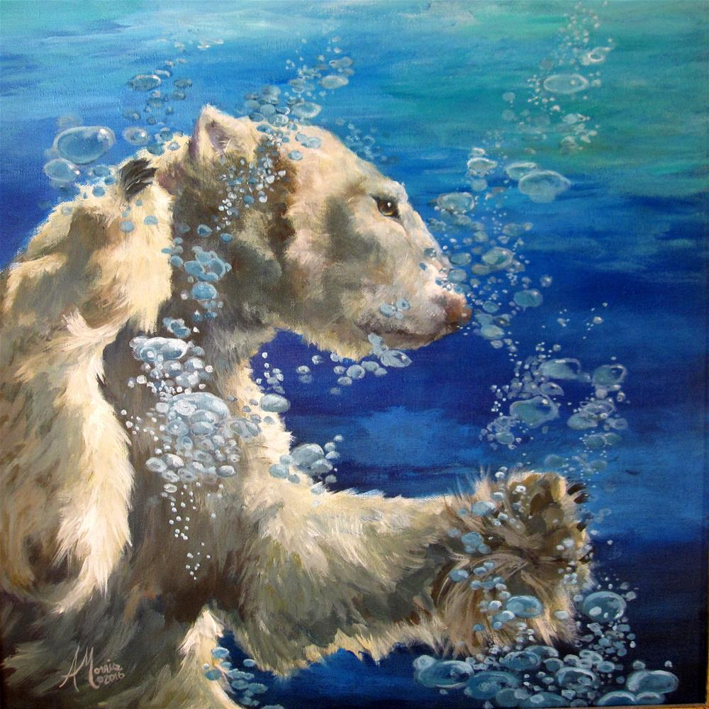 """Polar Splash"" original fine art by Andrea Morris"