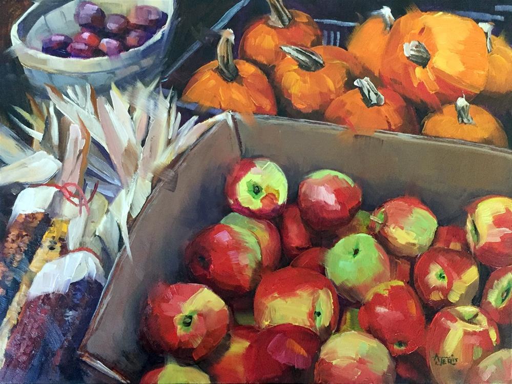 """Apples"" original fine art by Andrea Jeris"