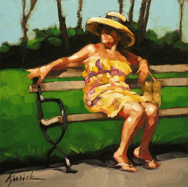 """Foot Rest"" original fine art by Karin Jurick"