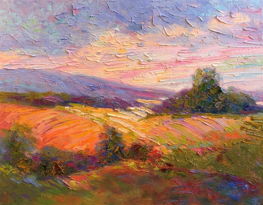 """Impasto Landscape Study 17"" original fine art by Charlotte Fitzgerald"
