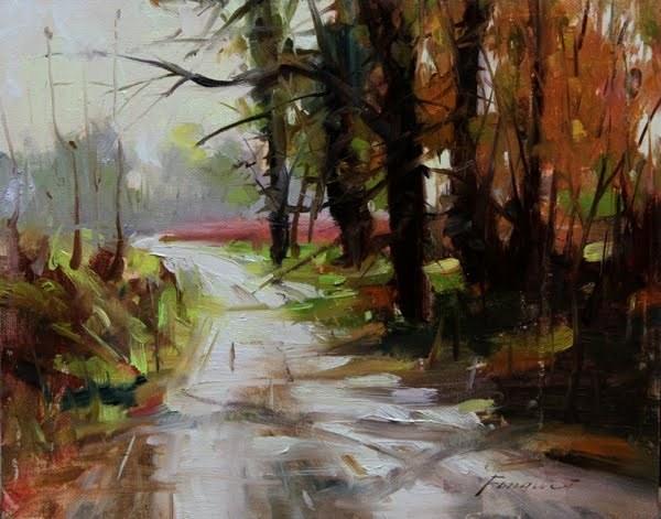 """After rain"" original fine art by Fongwei Liu"